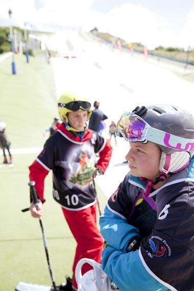 En bas de la piste de ski © Brigitte Baudesson