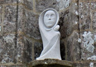 Chapelle de Locmaria - Guiscriff -  Pays roi Morvan - Morbihan Bretagne sud - CP OTPRM (7).JPG