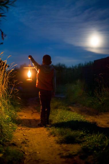Clair de lune sur les terrils du Pays à Part - Haillicourt