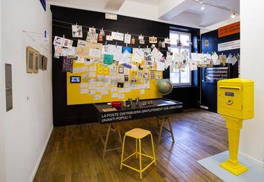 7 - Vue de la salle Mail Art (avec le partenariat de La Poste)