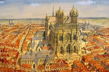Patrick Demouy_Cathédrale de Reims (c) Jean-Claude Golvin