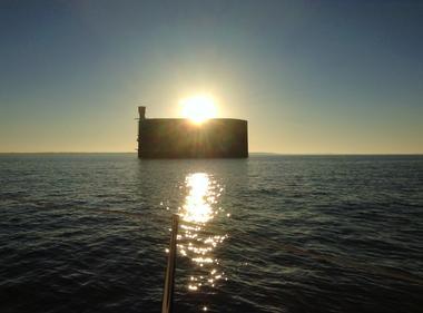 coucher de soleil sur le Fort Boyard