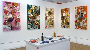 3 - Daniel Spoerri , 13 tableaux-pièges astro-gastronomiques, 1975