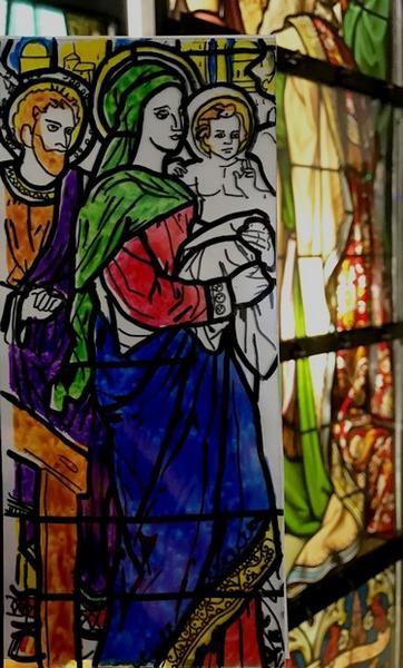 Vitrail en éventail © Cité du vitrail.