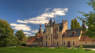 Facade château de Troussay en Val de Loire