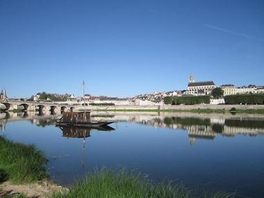 Départ de la promenade en Futreau depuis le port de la Creuille à Blois