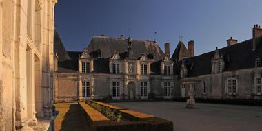 Cour du Château de Villesavin à Tour en Sologne