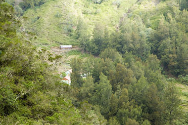 Vue sur le gîte Gravina