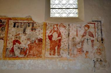 L'atelier de Saint Crépin et Saint Cépinien. Le Christ ressuscité - Saint Joseph et l'Enfant-Jésus.JPG