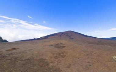 Le volcan vu depuis le Pas de Bellecombe