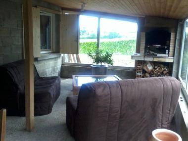 Terrasse aménagée et couverte