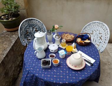 Petit déjeuner Le Clos de l'Orangerie
