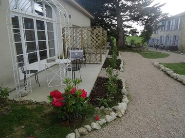 Terrasse, chambre d'hôtes le Petit Bergeret