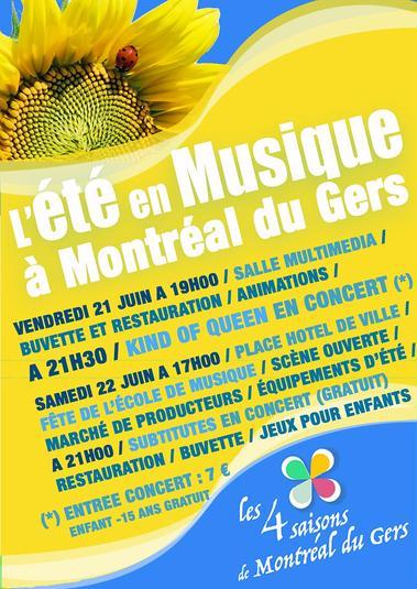 L'été en Musique à Montréal du Gers