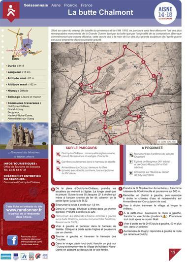 La butte Chalmont < Randonnée pédestre < Guerre 14-18 < WWI < Oulchy-le-Château < Aisne < Picardie < France