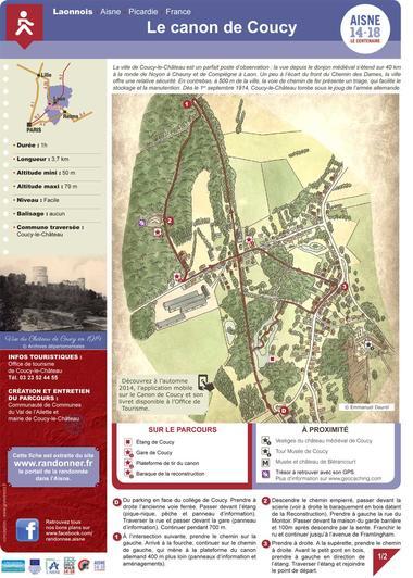 Le canon de Coucy < Randonnée pédestre < Guerre 14-18 < WWI < Coucy-Le-Château < Aisne < Picardie < France