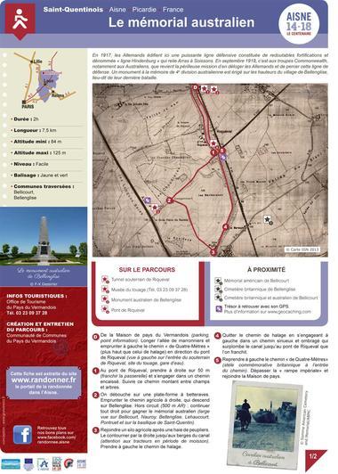 Le memorial australien < Randonnée pédestre < Guerre 14-18 < WWI < Bellicourt < Aisne < Picardie < France