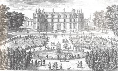 façade nord du logis gravure par Adam Pérelle 1670 - Bibliothèque Nationale de France