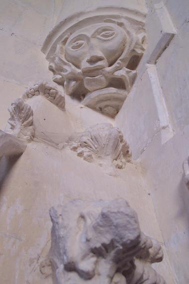 Aisne, PLEINE-SELVE. Masque, église Saint-Brice. CCVO EMILIE MARTIAL bis