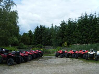 Les quads prêts au départ...