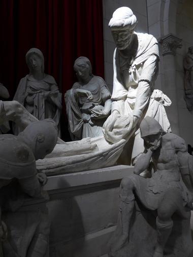Aisne, Sissy. Mise au tombeau, église Notre-Dame