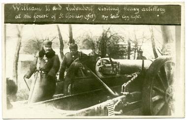 Visite de Guillaume II et Ludendorf
