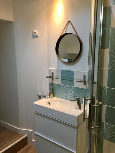 """Salle d'eau """"La cigale et la fourmi"""""""