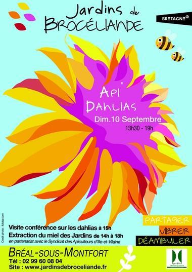 Api'Dahlias_10 septembre_Jardins Brocéliande