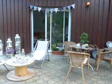 L'attrape-rêves - terrasse - Le Roc Saint André - Morbihan