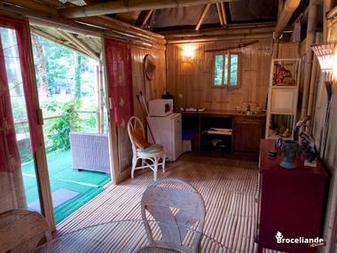 Cabane Bambou-5 Camping d'Aleth St-Malo de Beignon Brocéliande