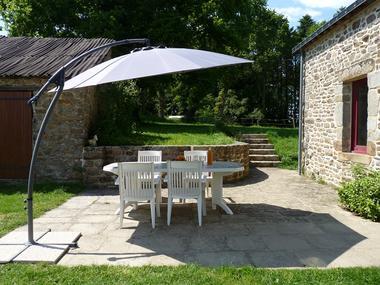 Chambres d'hôtes Métairie de la Béraudaie terrasse - Bohal - Morbihan - Bretagne