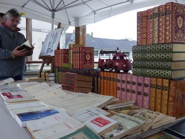 marché aux livres - ploermel - broceliande - bretagne