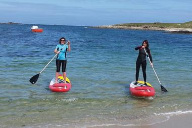 Au cœur de l'océan en kayak et stand up