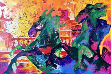 7--Julie-d-Aragon-Peintre-Chevaux-marins