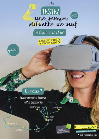 Testez une session virtuelle de surf - Pays Bigouden Sud