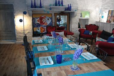 chambres d'hôtes les bulles bleues -table dej-Pouldreuzc -Pays bigouden