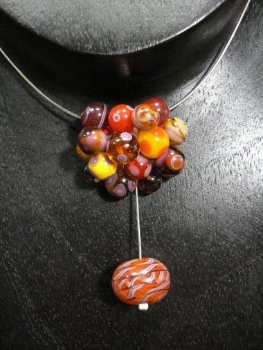collier en perles de verre @boutique atelier