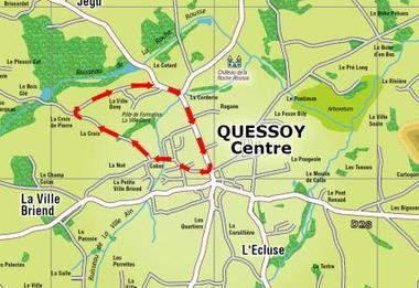 Pays de Moncontour - Plan du circuit course cycliste