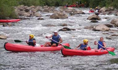 ASC - Mons - Canoe - Canoë-Kayak Tarassac - Canoés dans les rapides