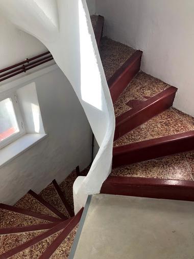 escalier vers la terrasse