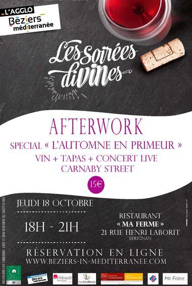 """Afterwork """" L'automne en primeur """""""