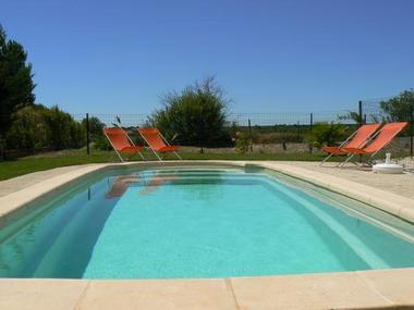 La piscine privative.