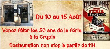 2018 - Restaurant La Crypte