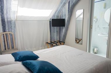 Chambre double bleue - La Voilerie - Cancale