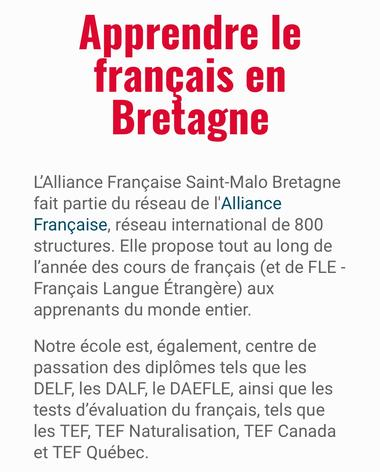 Document - Alliance Française - Saint-Malo