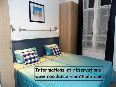 Lits jumeaux - Le Tangon - Résidence la Hoguette - Saint-Malo
