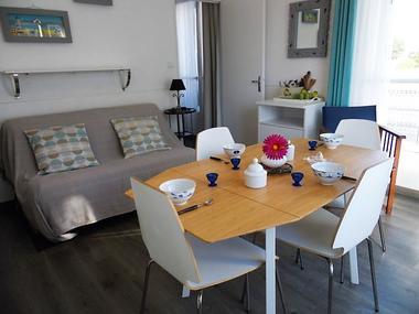 Salon salle à manger - L'Artimon - Résidence La Hoguette - Saint-Malo