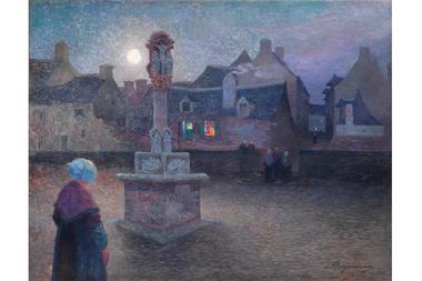 Ferdinand LOYEN du PUIGAUDEAU (1864-1930) -  Office du soir ou Le Calvaire