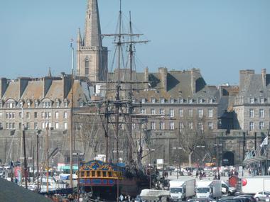 Vue sur cathédrale - Hudin - Saint-Malo
