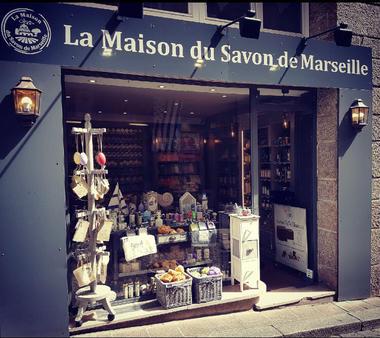 Vitrine - La Maison du Savon de Marseille - Saint-Malo